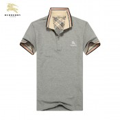 Burberry Gris Manches Courte T Shirt Homme Polo Uni Collection