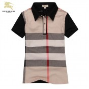 Burberry Manches Courte Polo T Shirt Femme Rayures Duffle Coat