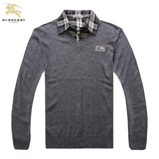 Burberry Pull Homme Pullover Polo Gris Boutique