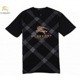 Burberry Noir Manches Courte T Shirt Homme Col Rond Robe Fille