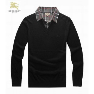 Burberry Pullover Col V Manches Longue Noir Pull Homme Boutique Lyon