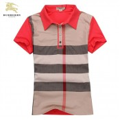 Burberry Rayures T Shirt Femme Gris Manches Courte Polo Maquillage