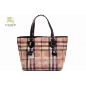 Burberry Sac Femme Marron Smoked Check Sacs Tote Boutique