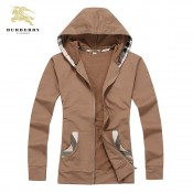 Burberry Sweat Uni Capuche Zippe Marron Veste Femme Manches Longues Recrutement