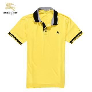 Burberry Uni Jaune T Shirt Homme Polo Manches Courte Montpellier