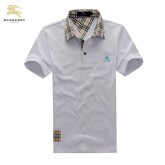 Burberry Uni Polo T Shirt Homme Manches Courte Blanc Collection