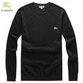 Burberry Col Rond Manches Longue Gris Pull Homme Pullover En Ligne