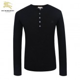 Burberry Col Rond Pull Homme Noir Manches Longue Pullover Porte Monnaie