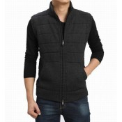 Burberry Cardigans Sans Manches Gris Pull Homme Trench Occasion