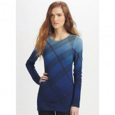 Burberry Manches Longue Bleu Pull Femme Pullover Col Rond Vente Privee