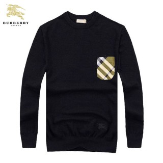 Burberry Noir Pullover Manches Longue Pull Homme Impermeable