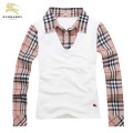 Burberry Polo Blanc Manches Longue T Shirt Femme Carreaux Shop Online