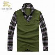 Burberry Pullover Manches Longue Pull Homme Vert Bruxelles