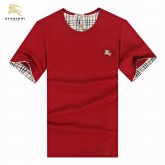 Burberry Rouge Col Rond Manches Courte T Shirt Homme Uni Cara Delevingne