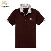 Burberry Rouge Polo T Shirt Homme Manches Courte Online
