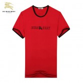 Burberry Rouge Uni Col Rond T Shirt Homme Manches Courte Magasin Marseille