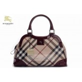 Burberry Sacs Tote Smoked Check Noir Sac Femme Robe Fille