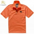 Burberry T Shirt Homme Orange Uni Polo Manches Courte Recrutement