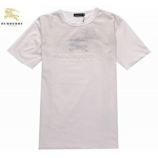 Burberry Manches Courte Blanc T Shirt Homme Uni Col Rond Trench Soldes