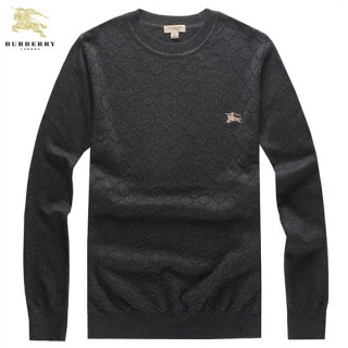 Burberry Gris Pullover Uni Col Rond Pull Homme Veste Reversible