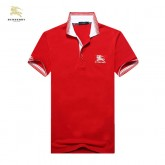 Burberry Manches Courte Rouge Uni T Shirt Homme Polo Site Officiel