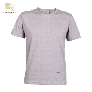 Burberry Manches Courte Uni Gris T Shirt Homme Col Rond Magasin France