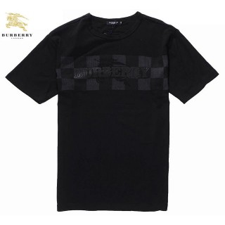 Burberry Noir Col Rond T Shirt Homme Manches Courte Trench Soldes