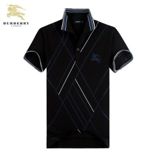 Burberry Noir Manches Courte T Shirt Homme Polo Logo Trench Occasion