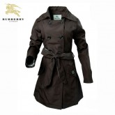 Burberry Polo Manteau Boutons Marron Manches Longues Uni Veste Femme Outlet Store Online
