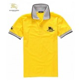 Burberry Polo T Shirt Homme Manches Courte Jaune Logo Duffle Coat