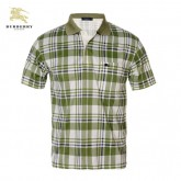 Burberry Polo T Shirt Homme Manches Courte Carreaux Bordeaux