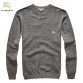 Burberry Pullover Col Rond Pull Homme Gris Manches Longue Uni Online Shop