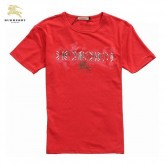Burberry Rouge Manches Courte Col Rond T Shirt Homme Boutique