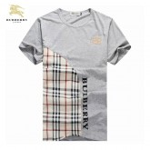 Burberry T Shirt Homme Col Rond Gris Manches Courte Outlet Londres