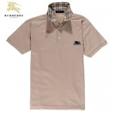 Burberry Manches Courte Polo Uni T Shirt Homme Beige Nouvelle Collection