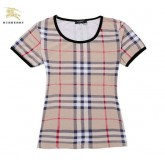 Burberry Col Rond Manches Courte Gris T Shirt Femme Online