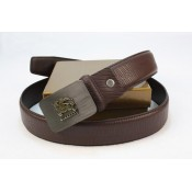Burberry Ceinture Uni Marron Cuir Ceinture reglable Official Website