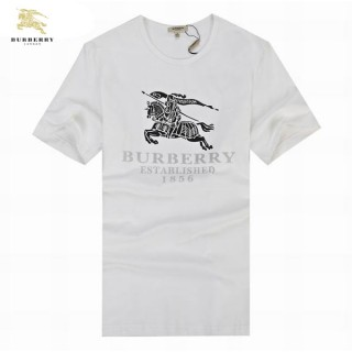 Burberry Col Rond Manches Courte T Shirt Homme Blanc Outlet Online