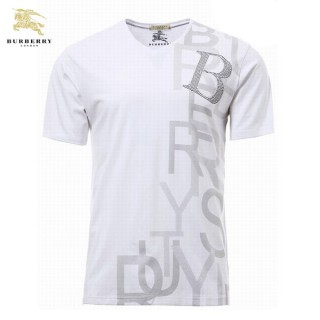 Burberry Col V Manches Courte Blanc T Shirt Homme Neiman Marcus