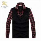 Burberry Manches Longue Polo Pull Homme Pullover Outlet Store