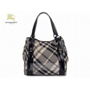Burberry Noir Sacs Tote Smoked Check Sac Femme Magasin Paris