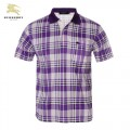 Burberry Polo T Shirt Homme Pourpre Manches Courte Vente Privee