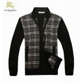 Burberry Zippe Col Montant Pull Homme Cardigans Manches Longue Magasin France