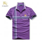 Burberry Polo Manches Courte T Shirt Homme Uni Pourpre Maquillage