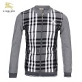 Burberry Zippe Veste Homme Sweat Gris Col Rond Manches Longues Trench Soldes