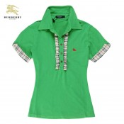 Burberry Polo Vert Manches Courte T Shirt Femme Magasin Lyon