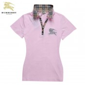 Burberry Manches Courte Rose T Shirt Femme Polo Outlet