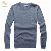 Burberry Pullover Col Rond Manches Longue Gris Pull Homme Cara Delevingne