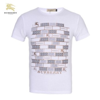 Burberry T Shirt Homme Col Rond Manches Courte Blanc Soldes Londres
