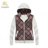 Burberry Capuche Rayures Marron Manches Longues Sweat Veste Femme Zippe Vente Privee